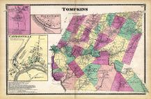Tompkins, Teedville,  Hales Eddy, Cannonsville, Delaware County 1869