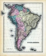 South America Map, Dutchess County 1876