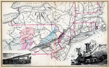South Mountain and Boston Rail Road Map, Dutchess County 1876