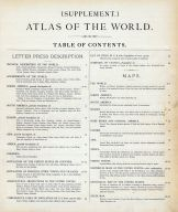 Table of Contents - Atlas of the World, Dutchess County 1876