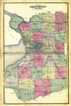 Erie County Map, Erie County 1880