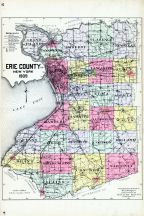 Erie County Map, Erie County 1909