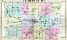 County Map, Genesee County 1904