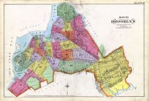 Brooklyn City Map Kings County 1890 New York  map online