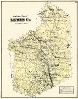 Outline Map, Lewis County 1875