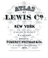 Title Page, Lewis County 1875