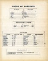 Table Of Contents, Livingston County 1872