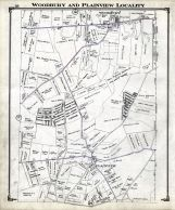 Woodbury and Plainview Locality, Nassau County 1914 Long Island