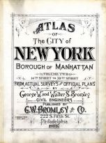 Title Page, New York City 1909 Vol 2 Revised 1912