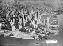 Aerial View Downtown New York, New York City 1949 Five Boroughs Street Atlas
