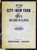 Cover Page, New York City 1949 Five Boroughs Street Atlas