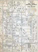 Theatre District and Times Square, New York City 1949 Five Boroughs Street Atlas