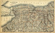Western New York, New York State 1890 to 1908 Walker Maps