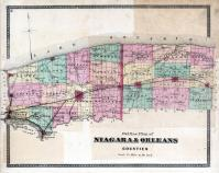 Niagara & Orleans Counties Outline Map, Niagara and Orleans County 1875
