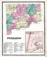 Pendleton Township, Halls Station, Beach Ridge P.O., Mapleton, Tonawanda Creek, Niagara and Orleans County 1875