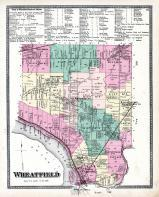 Wheatfield Township Ironton, Martinsville, Halls Station, St. Johnsburg, Bergholtz, Walmore, Shawnee P.O., Niagara and Orleans County 1875