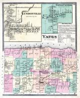 Yates Township, Lyndonville, Lake Ontario. County Line P.O., Niagara and Orleans County 1875