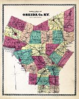 Outline Plan Map, Oneida County 1874