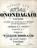 Title Page, Onondaga County 1874
