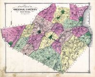 Outline Map, Orange County 1875