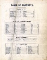 Table Of Contents, Orange County 1875