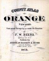Title Page, Orange County 1875