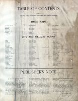 Table of Contents, Orange County 1903
