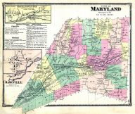 Maryland - Town, Maryland Centre, Chaseville, Otsego County 1868