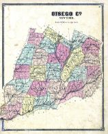Outline Map, Otsego County 1868
