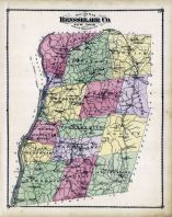 Outline Map, Rensselaer County 1876