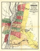 Troy, West Troy, Green Island, Rensselaer County 1876