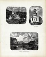 Sutherland Falls, Otter Creek, M.E. Church, Susquehanna, Tioga County 1869