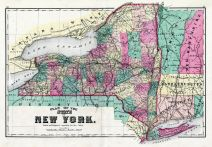 New York State Map, Wayne County 1874