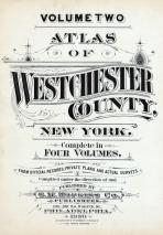 Title Page, Westchester County 1930 Vol 2