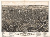 Akron 1882 Bird's Eye View 17x22, Akron 1882 Bird's Eye View
