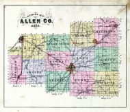 County Outline Map, Allen County 1880