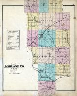 Outline Map, Ashland County 1874