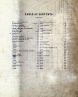 Table of Contents, Ashland County 1874