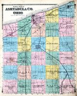 Ashtabula County Map, Ashtabula County 1874
