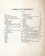Table of Contents, Ashtabula County 1874