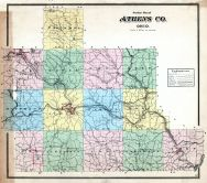 Athens County Outline Map, Athens County 1875