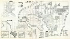 Albany, Richland, Amesville, Federal, Millfield, Coolville, Kilvert, Athens, Pleasant Valley, Mechanicsburg, Detroit, Torch, Tyler, Athens County 1905