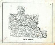 County Map, Athens County 1905