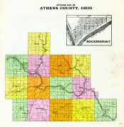 Outline Map, Athens County 1905