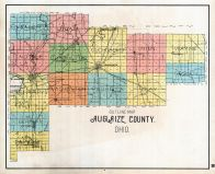 County Outline Map, Auglaize County 1898