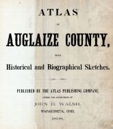 Title Page, Auglaize County 1898