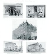 Zint's Shoe Store, Wapak Dry Cleaning Works, Kreitzer Buggy Co., Vossler Bros., Home Milling Co., Auglaize County 1917