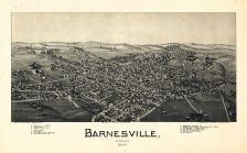 Barnesville 1899 Bird's Eye View 24x38, Barnesville 1899 Bird's Eye View