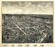Belle 1875 Bird's Eye View 17x20, Belle 1875 Bird's Eye View