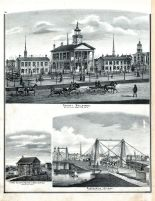 First Court House, Suspension Bridge, County Buildings, Butler Co., Butler County 1875